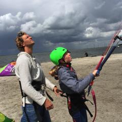 Tinywagon Almere Strand - kitesurf les