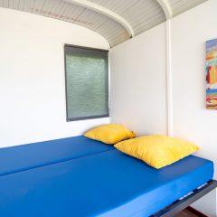 Tinywagon accomodatie huren aan Almere Strand - 2-persoonsbed