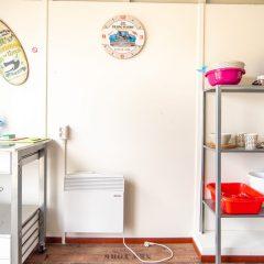 Tinywagon accomodatie huren aan Almere Strand - spulletjes en opbergruimte